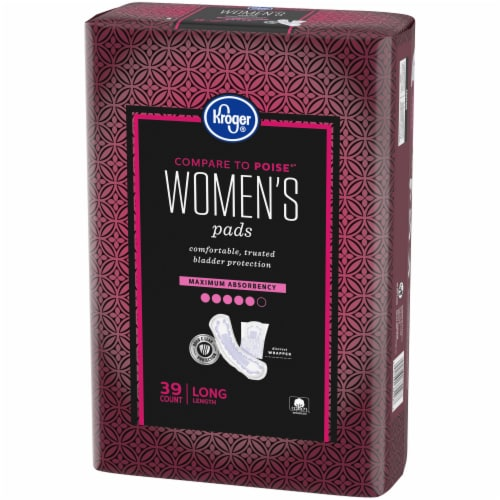 Kroger® Womens Long Maximum Absorbency Pads Perspective: right
