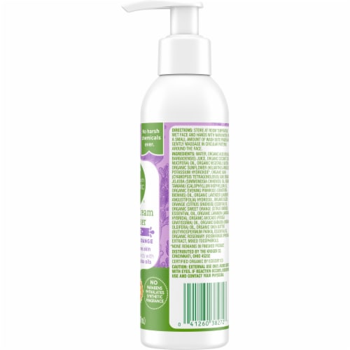Simple Truth Organic™ Lavender Orange Facial Cream Cleanser Perspective: right