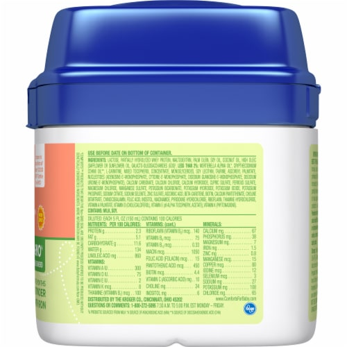 Comforts™ Tender® Milk-Based Infant Formula Powder With Iron Perspective: right