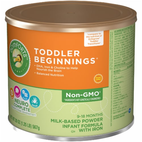 Comforts™ Toddler Beginnings Milk-Based Infant Formula Powder With Iron Perspective: right