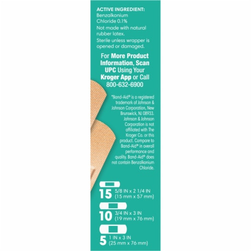 Kroger® Advanced Antibacterial Fabric Bandages Assorted Sizes Perspective: right