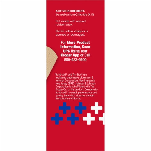 Kroger® Antibacterial Plastic Bandages 3/4 in x 3 in One Size Perspective: right