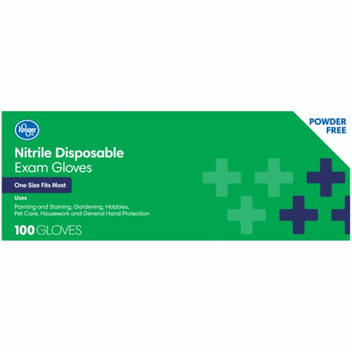 Kroger® Powder-Free Nitrile Disposable Exam Gloves Perspective: right