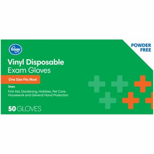 Kroger® Powder-Free Vinyl Disposable Exam Gloves Perspective: right