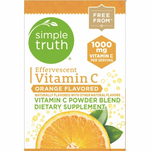 Simple Truth™ Effervescent Vitamin C Orange Flavored Powder Blend Packets Perspective: right