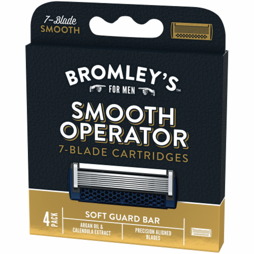 Bromley's™ for Men Smooth Operator 7-Blade Cartridges Perspective: right