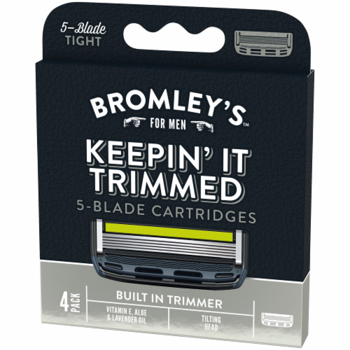 Bromley's™ For Men Keepin' It Trimmed 5-Blade Cartridges Perspective: right