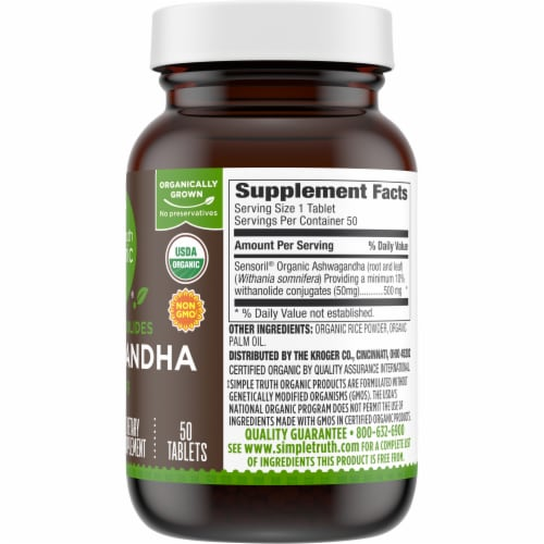 Simple Truth Organic™ Ashwagandha Tablets 500mg Perspective: right