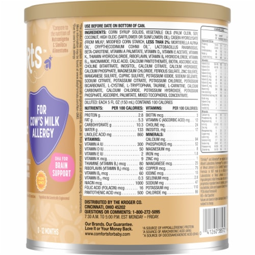 Comforts™ Hypoallergenic Infant Formula Powder with Iron Perspective: right