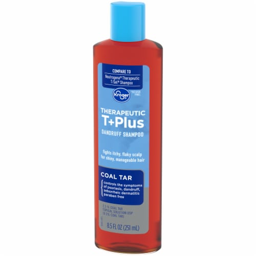 Kroger® Therapeutic T+Plus Coal Tar Dandruff Shampoo Perspective: right