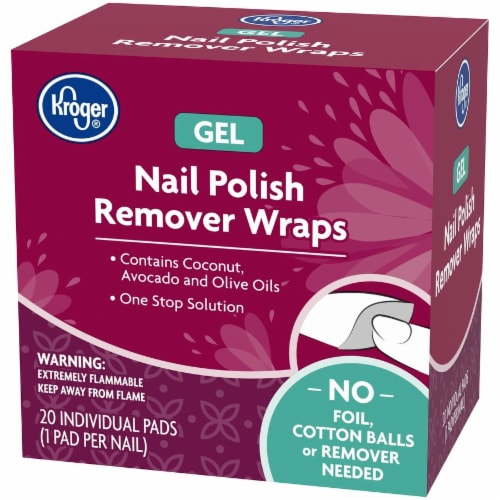 Kroger® Gel Nail Polish Remover Wraps 20 Count Perspective: right