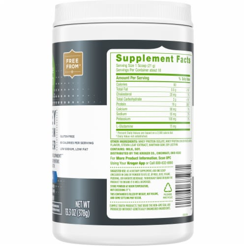 Simple Truth™ Vanilla Whey Protein Powder Perspective: right