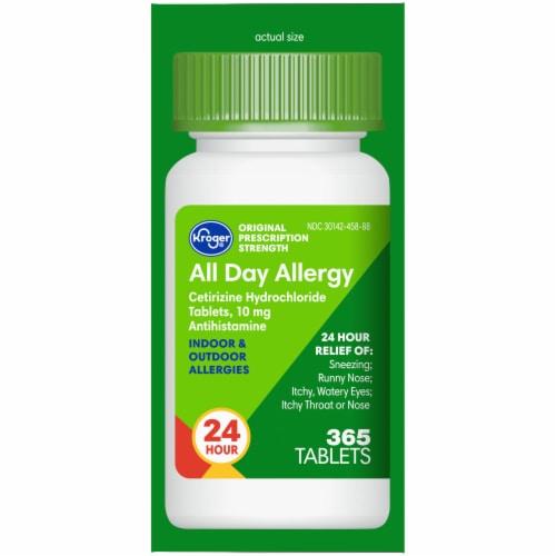 Kroger® Original Prescription Strength All Day Allergy Antihistamine Tablets Box Perspective: right