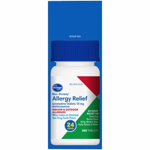 Kroger® Non-Drowsy Allergy Relief Tablets Perspective: right