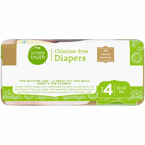Simple Truth® Chlorine Free Size 4 Baby Diapers Perspective: right
