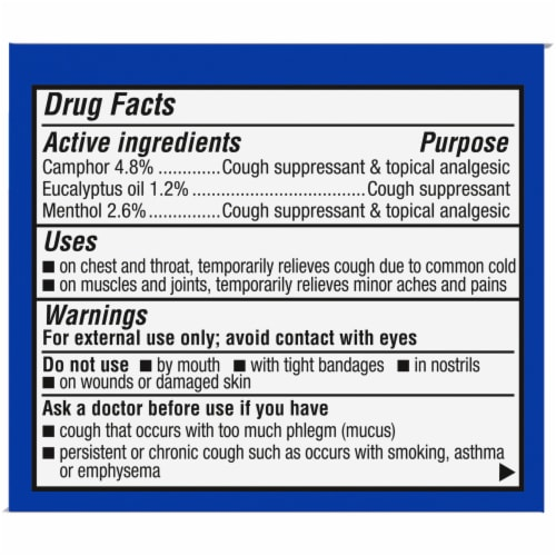 Kroger® Medicated Chest Rub Perspective: right