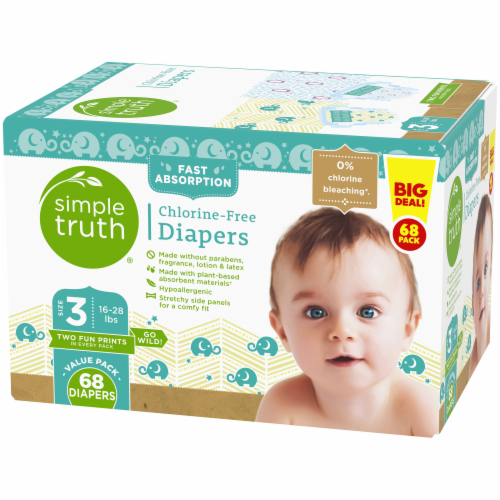 Simple Truth® Chlorine Free Size 3 Baby Diapers Perspective: right