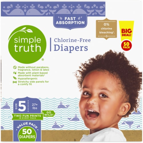 Simple Truth®  Chlorine Free Size 5 Baby Diapers Perspective: right