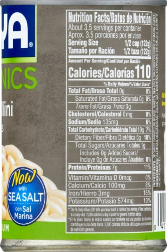 Goya Organics Low Sodium Cannellini Beans Perspective: right