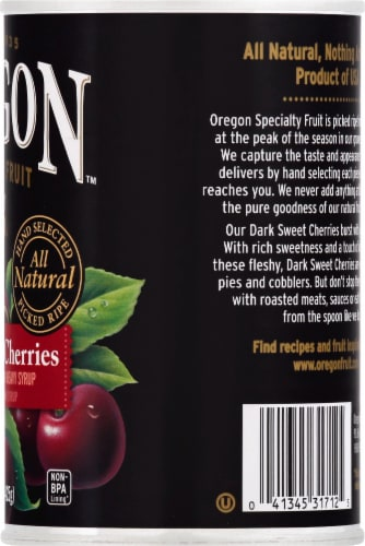 Oregon Fruit Products Pitted Dark Sweet Cherries Perspective: right