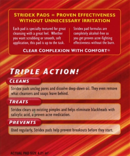 Stridex Maximum Soft Touch Acne Control Pads Perspective: right