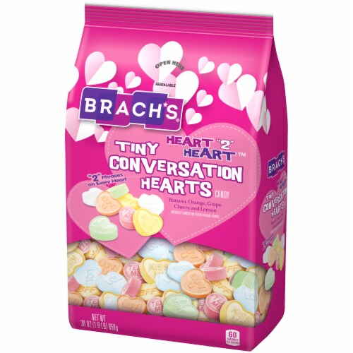 Brach's Heart 2 Heart Tiny Conversation Hearts Candy Perspective: right