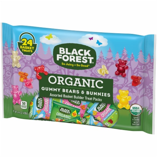 Black Forest Organic Gummy Bears & Bunnies Assorted Basket Builder Treat Packs Perspective: right
