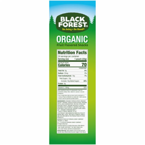 Black Forest Organic Mixed Fruit Flavored Snacks 24 Count Perspective: right