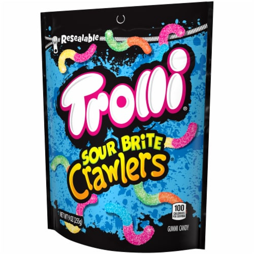 Trolli Sour Brite Crawlers Gummy Candy Perspective: right
