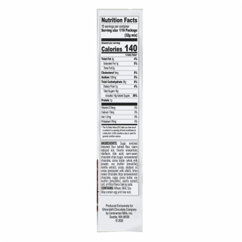 Ghirardelli Double Chocolate Premium Brownie Mix Perspective: right