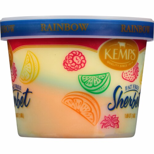 Kemps Fat Free Rainbow Sherbet Perspective: right