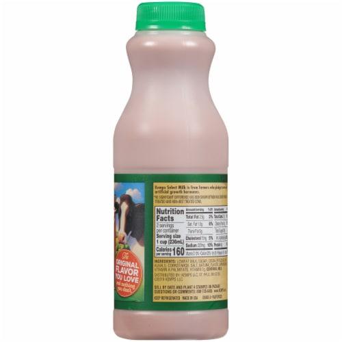 Kemp's Select Lowfat Chocolate Milk Perspective: right