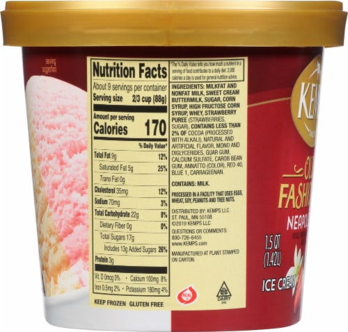Kemps Old Fashioned Neapolitan Ice Cream Perspective: right