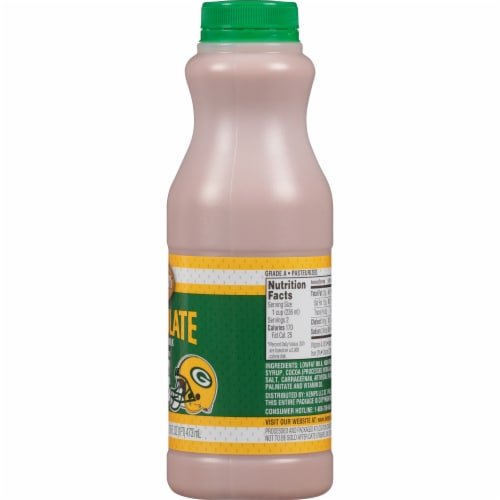 Kemps Green Bay Packers Low-fat Chocolate Milk Perspective: right