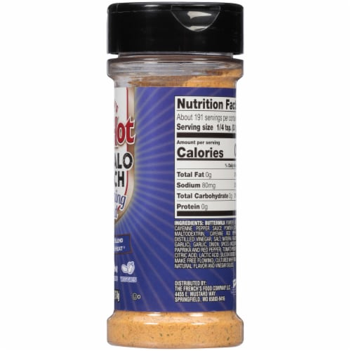 Frank's RedHot Buffalo Ranch Seasoning Blend Shaker Perspective: right