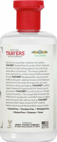 Thayers Cucumber Witch Hazel Facial Toner Perspective: right