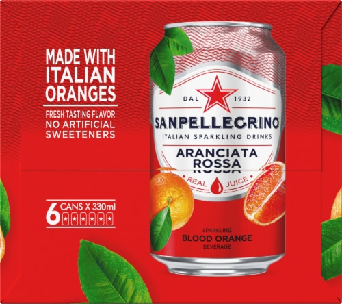 S. Pellegrino Sparkling Blood Orange Beverage 6 Count Perspective: right