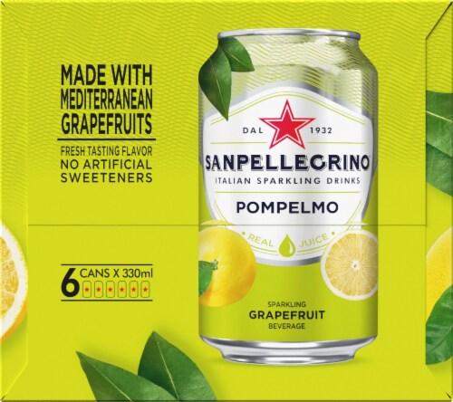 S. Pellegrino Pompelmo Sparkling Grapefruit Beverage 6 Count Perspective: right