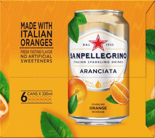 S. Pellegrino Aranciata Sparkling Orange Beverage 6 Count Perspective: right