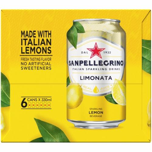 Sanpellegrino Lemon Italian Sparkling Drinks 6 Count Perspective: right