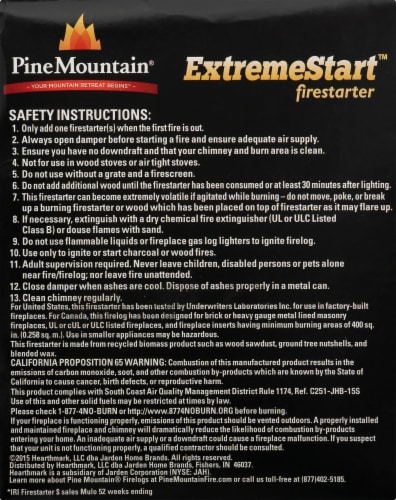 Pine Mountain ExtremeStart Firestarters Perspective: right