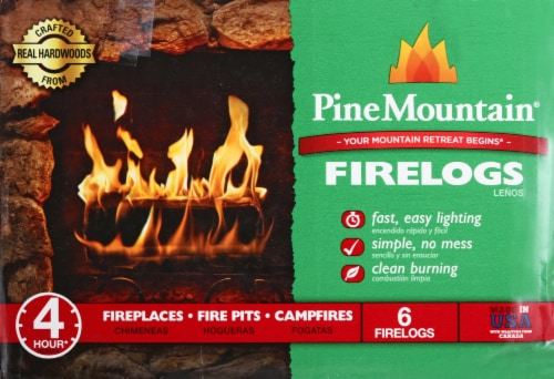 Pine Mountain 4-Hour Fire Logs 6 Pack Perspective: right