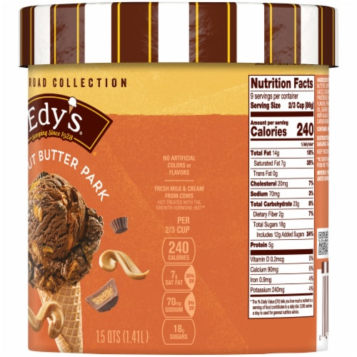 Dreyer's/Edy's Chocolate Peanut Butter Cup Ice Cream Perspective: right