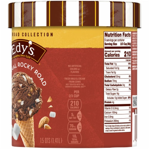 Edy's Original Rocky Road Ice Cream Perspective: right
