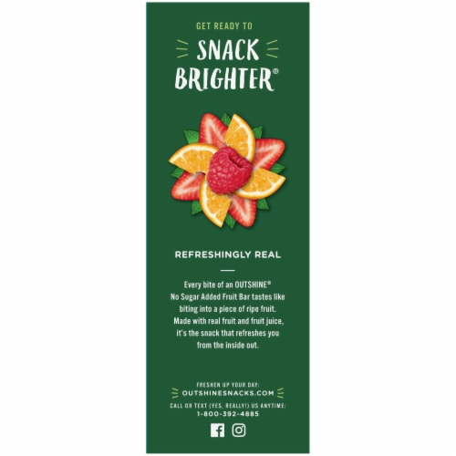 Outshine Strawberry Tangerine & Raspberry No Sugar Added Fruit Bars Perspective: right