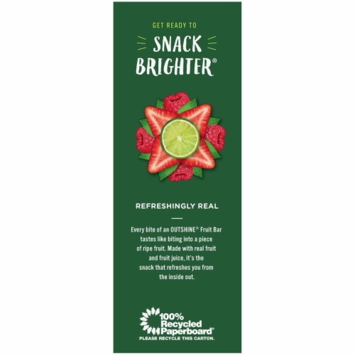 Outshine Strawberry Lime & Raspberry Assorted Fruit Ice Bars Perspective: right