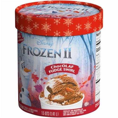 Disney Frozen 2 ChocOLAF Fudge Swirl Ice Cream Perspective: right