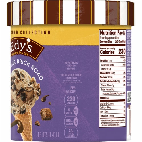 Dreyer's/Edy's Rocky Road Collection Brownie Brick Road Ice Cream Perspective: right