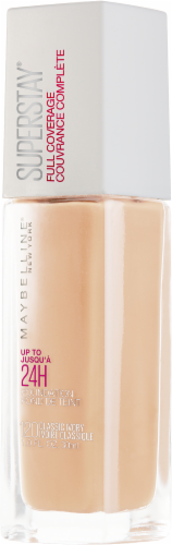 Maybelline Superstay 24-Hour Full Coverage 120 Classic Ivory Liquid Foundation Perspective: right