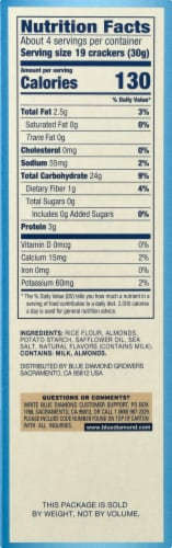 Blue Diamond Sea Salt Almond Nut-Thins Crackers Perspective: right